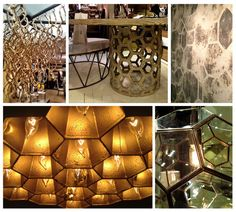 By the second half of 2013, organic architecture will be the hottest trend when it comes to furniture design. Here, at High Point Market, we are seeing several manufacturers draw their inspiration from the hexagonal wax cells that make up a bee's nest, known as the honeycomb.
