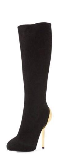 High heel black boots. Neman Marcus. Love! Love! Love!