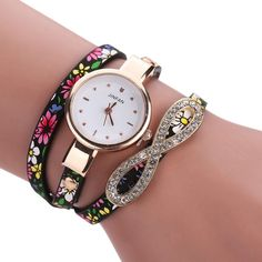Relogio Feminino luxo quartzo Lucky 8 Characters Sleek Stylish And Chic Decor Ladies Bracelet Watch 2016 New Arrival ladies gift