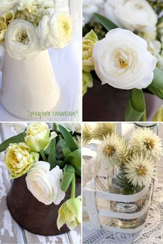 Pretty white spring ranunculus... By Magnolia Rouge -- see more at LuxeFinds.com