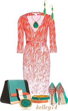 """""""Wrapped Turquoise"""" by kelley74 ❤ liked on Polyvore"""