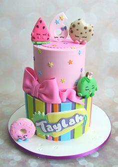 Shopkins Cake Bolo Shopkins, Shopkins Birthday Cake, Birthday Cake Girls, 5th Birthday, Birthday Cakes, Pastel Shopkins, Cake Cookies, Cupcake Cakes, Cake Shapes