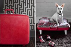 Is your furry friend always trying to get on your sofa, chair, bed,or other furniture? With a vintage luggage dog bed, Fido will have a ne...