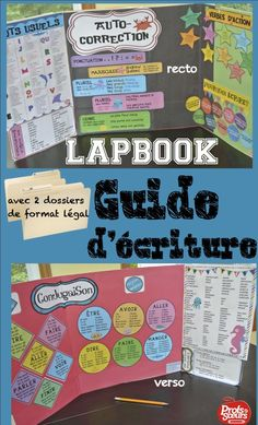 French Teaching Resources, Teaching French, Classroom Tools, Teacher Tools, Writing Lessons, Teaching Writing, Writing Offices, Writing Folders, Interactive Journals