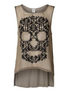 SCULL TANK TOP - High low top