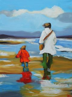 Beach 46 by Roz Art.  Brings back memories of being at the beach with my children.