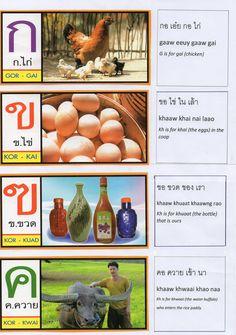 Thai Alphabet Song Lyrics page1