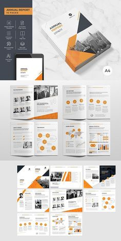 annual reports Annual Report 16 Pages This InDesign Brochure is Clean & Professional. Create your company's documentation quick and easy. The template comes with paragraph and character Corporate Brochure Design, Company Brochure, Brochure Layout, Business Brochure, Brochure Template, Corporate Business, Corporate Identity, Flyer Template, Web Design