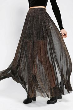 Shimmering maxi skirt from Kimchi Blue. #urbanoutfitters