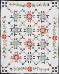 2010 Dallas Raffle Quilt • Made by Dallas Quilt Guild members • Quilted by Richard Larson - Love the colors and applique!