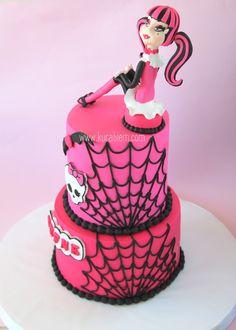 Draculaura cake , monsterhigh cake , monsterhigh pasta, draculaura pasta, birthday cake , children birthday cake