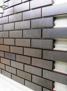 Corium Brick Rainscreen For more info, visit www. Source by Storage Container Homes, Building A Container Home, Container Buildings, Container Architecture, Architecture Design, Container Cabin, Cargo Container, Container Store, Sustainable Architecture