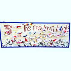 3ro. de Primaria - #ArtWorkshop. Objetivo: hacer un objeto tridimensional con papel e interpretar una obra plástica de #PietMondrian Piet Mondrian, Arabic Calligraphy, Goal, Paper Envelopes, Art, Arabic Calligraphy Art