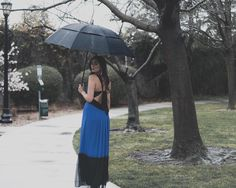 "(@kaval.sultana) on Instagram: ""Walk in the park"" #bcbg #portrait #fashion #gown #formal #prom #gala #maxidress #dress #blue #ball #bow"
