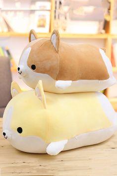 Corgi Plush, Corgi Dog, Divas, Harajuku, Cute Corgi, Cute Stuffed Animals, Cute Toys, Kawaii Cute, Animal Pillows