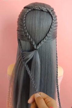 Everyday Hairstyles, Up Hairstyles, Braided Hairstyles, Hair Style Vedio, Medieval Hairstyles, Viking Hair, Fantasy Hair, Hair Videos, Prom Hair