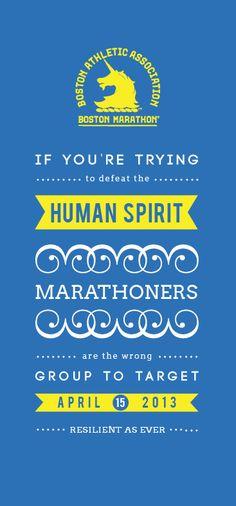 Boston Marathon spirit. Never broken!