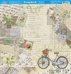Scrapbook Recipe Book, Scrapbook Paper, Scrapbooking, 3d Paper, Paper Crafts, Clip Art Vintage, Decoupage Paper, Graphic 45, Shabby Vintage