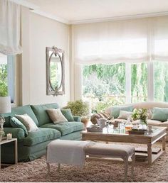 Sofá verde