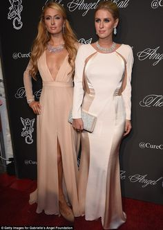 Dynamic duo: Paris was joined on the red carpet by her younger sister Nicky, 31, who looke...
