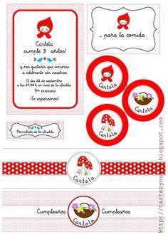 tartas y nubes de azúcar: Cumpleaños con Caperucita Roja
