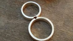 Matching Wedding Rings Wedding Band set Mixed Metals Wedding Rings His and Hers…
