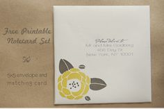 free printable notecard set.