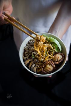 Minced pork noodle (