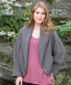 All Around Warm Jacket Crochet Pattern   Red Heart, yarn suggested is Shimmer, one of my favorites!