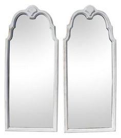 Lane Mahogany Mirrors, Pair   Against the Wall   One Kings Lane