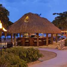 Hilton Curacao Hotel, Na - Beach Bar & Grill At Dusk