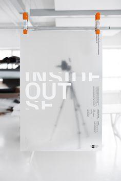 White on foil. InsideOut SF Poster _ Brett Wickens & Jeremy Matthews, Ammunition