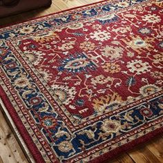 Persia Tabriz Red/Navy Rug for sale online with free UK delivery. Whether you seek something on trend or traditional, Capital rugs has designs to suit all tastes. Rug Direct, Red Rugs, Buying Carpet, Persian Rug Designs, Traditional Rugs, Machine Made Rugs, Navy Rug, Persian Style Rug, Cool Rugs