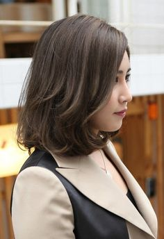 Curly Bob for Asian Hairstyles nice color: an ashy dark brown?