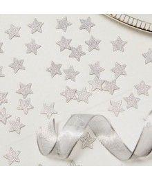 Confetis Estrelas Glitter Prata