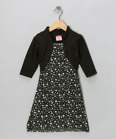 Black Polka Dot Ruffle Dress from S.W.A.K. on #zulily