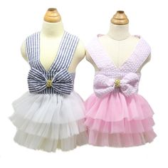 Ennc Pet Apparel Dog Princess Tutu Dress Cat Bow Stripe Belt Skirt Vest Clothes Cute Summer Elegant Butterfly Bowknot Yarn Evening Party Dress for Puppy Small Dogs Cats -- Check out the image by visiting the link. (This is an affiliate link and I receive a commission for the sales)