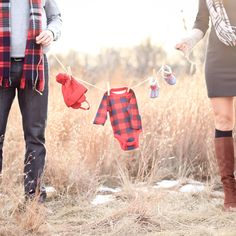 Gender reveal photo. Thanks @Ashley Statema for the adorable photos!