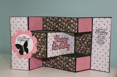 Trifold Card Love The Colors  Great Craft Ideas
