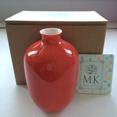 Middle Kingdom Mini Plum Vase in Coral Red Must Have Pop Sugar May 2015 Retail Value $20