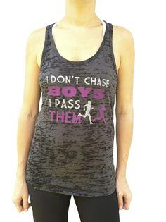I Don't Chase Boys, I Pass Them Black Burnout Tank | SoRock Shop