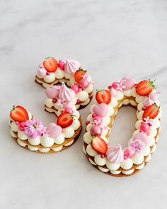 Number Birthday Cakes, 21st Birthday Cakes, Number Cakes, Adult Birthday Party, Birthday Woman, Pretty Cakes, Cute Cakes, Monogram Cupcakes, 30th Birthday Ideas For Women