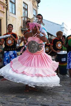 Desfile de Afoxé no Carnaval de Olinda - Pernambuco