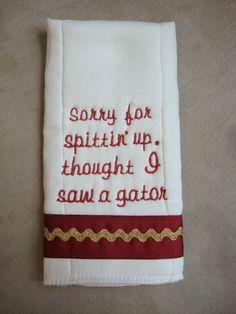 FSU Seminoles Burp Cloth by CoughlinCrafts on Etsy, $12.00