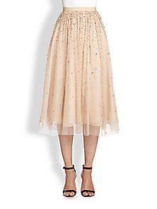 Alice + Olivia - Rina Embellished Tulle Skirt
