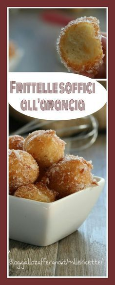 Frittelle soffici all'arancia, con patate