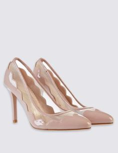 Stiletto Mesh Court Shoes with Insolia®️️