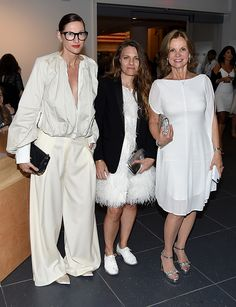 Jenna Lyons Courtney Crangi and Audrey Meyer attends The 2016 Brooklyn Museum Artists Ball Honoring Stephanie and Tim Ingrassia on April 20 2016 in...
