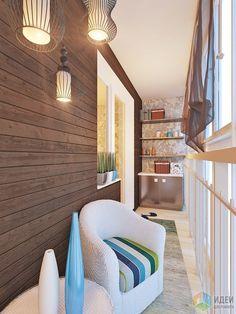 Дизайн балкона, отделка балкона вагонка Apartment Balcony Decorating, Apartment Design, Interior Design Living Room, Interior Decorating, One Room Flat, Indoor Balcony, Balcony Furniture, Loft Interiors, Balcony Design