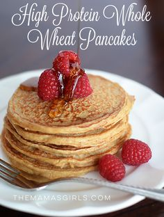 High protein, whole wheat foods don't have to be dense and lackluster. This recipe for high protein whole wheat pancakes enrich your breakfast routine.